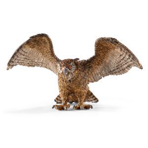 Schleich - 14738 - Figurine Hibou grand-duc 11,3 cm x 6 cm x 6,1 cm (270240)