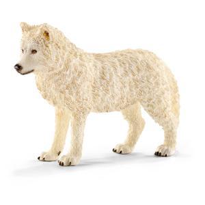 Schleich - 14742 - Figurine Loup arctique 9,2 cm x 2,5 cm x 6,1 cm (270248)