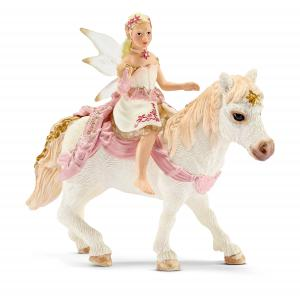 Schleich - 70501 - Figurine Elfe douce comme le lis, à poney 15 cm x 8,5 cm x 18 cm (270376)