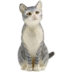 Schleich - 13771 - Figurine Chat assis - Dimension : 2,5 cm x 3,8 cm x 4,5 cm (270426)