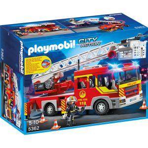 Playmobil - 5362 - Camion de pompier avec échelle pivotante et sirène (271336)