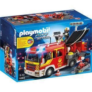 Playmobil - 5363 - Fourgon de pompier avec sirène et gyroph (271338)