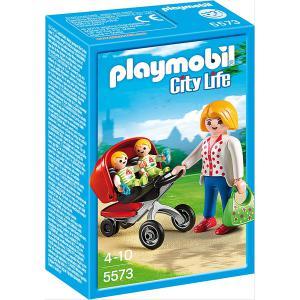 Playmobil - 5573 - Maman avec jumeaux et landau (271446)