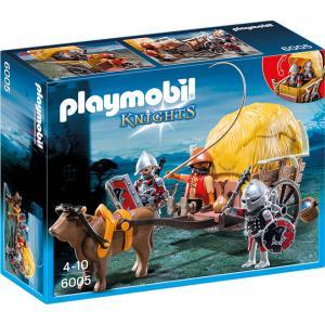 Playmobil - 6005 - Chevaliers de l'Aigle avec charrette pié (271482)