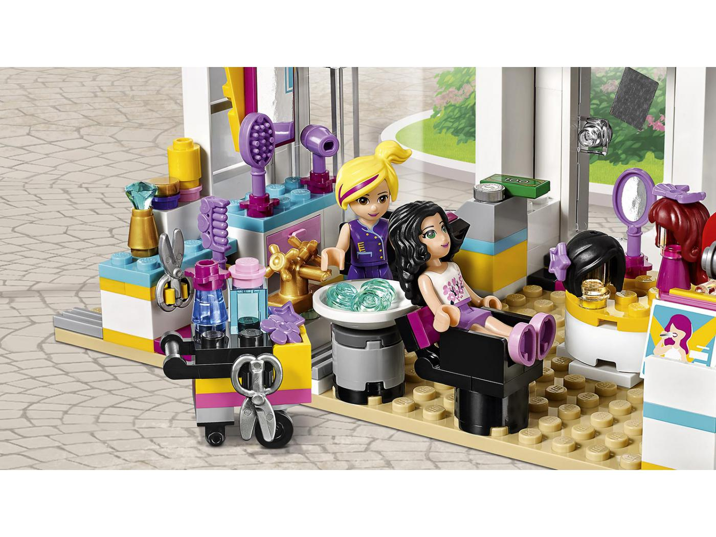 Lego le salon de coiffure d 39 heartlake city for Lego friends salon de coiffure