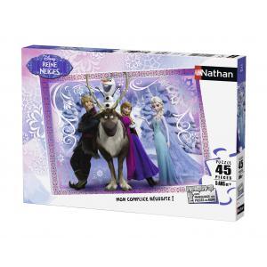 Nathan puzzles - 86522 - Puzzle 45 pièces - Nathan - Une équipe formidable / La Reine des Neiges (273370)
