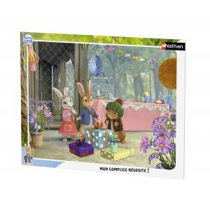 Nathan puzzles - 86119 - Puzzle cadre 35 pièces - Joyeux anniversaire Lily / Pierre Lapin (273394)