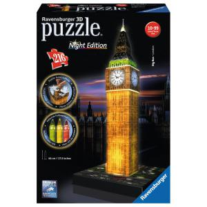 Ravensburger - 12588 - 3D puzzle Building 216 pièces - Big Ben - Night Edition (273522)