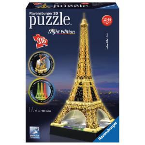 Ravensburger - 12579 - Puzzle 3D Building 216 pièces - Tour Eiffel - night edition (273524)