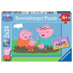 Ravensburger - 09082 - Puzzle 2 x 24 pièces - La vie de famille / Peppa Pig (273636)