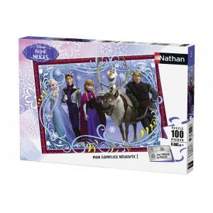 Nathan puzzles - 86723 - Puzzle 100 pièces - Photo de famille / La Reine des Neiges (273782)