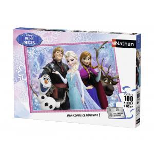 Nathan puzzles - 86727 - Puzzle 100 pièces - Olaf et ses amis / La Reine des Neiges (273784)