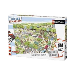 Nathan puzzles - 86725 - Puzzle 100 pièces - Safari Parc / Où est Charlie ? (273788)