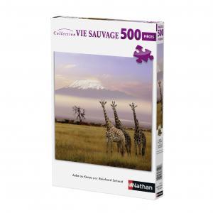 Nathan puzzles - 87201 - Puzzle 500 pièces - Aube au Kenya (puzzle carré) (273804)