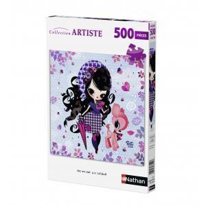 Nathan puzzles - 87182 - Puzzle 500 pièces - Arc en ciel (Betty et Cie) Lilidoll (puzzle carré) (273806)