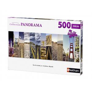 Nathan puzzles - 87213 - Puzzle 500 pièces panorama - Sur la route (273818)
