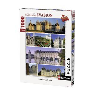 Nathan puzzles - 87598 - Puzzle 1000 pièces - Les châteaux de la Loire (273820)