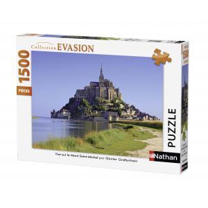 Nathan puzzles - 87770 - Puzzle 1500 pièces - Vue sur le Mont Saint Michel (273842)