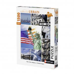 Nathan puzzles - 87771 - Puzzle 1500 pièces - New York Collage (273844)