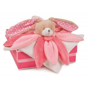 Doudou et compagnie - DC2791 - Collector - doudou - lapin rose - 28 cm - boîte cadeau (274002)
