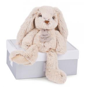 Histoire d'ours - HO2430 - Copains calins - lapin beige - taille 25 cm - boîte cadeau (274098)