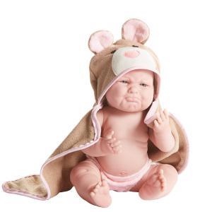 Berenguer / JC Toys - 18006 - Poupon Newborn nouveau né sexué fille avec serviette 43 cm (274294)
