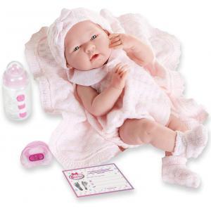 Berenguer / JC Toys - 18053 - Poupon Newborn nouveau né sexué fille avec couverture 38 cm (274296)