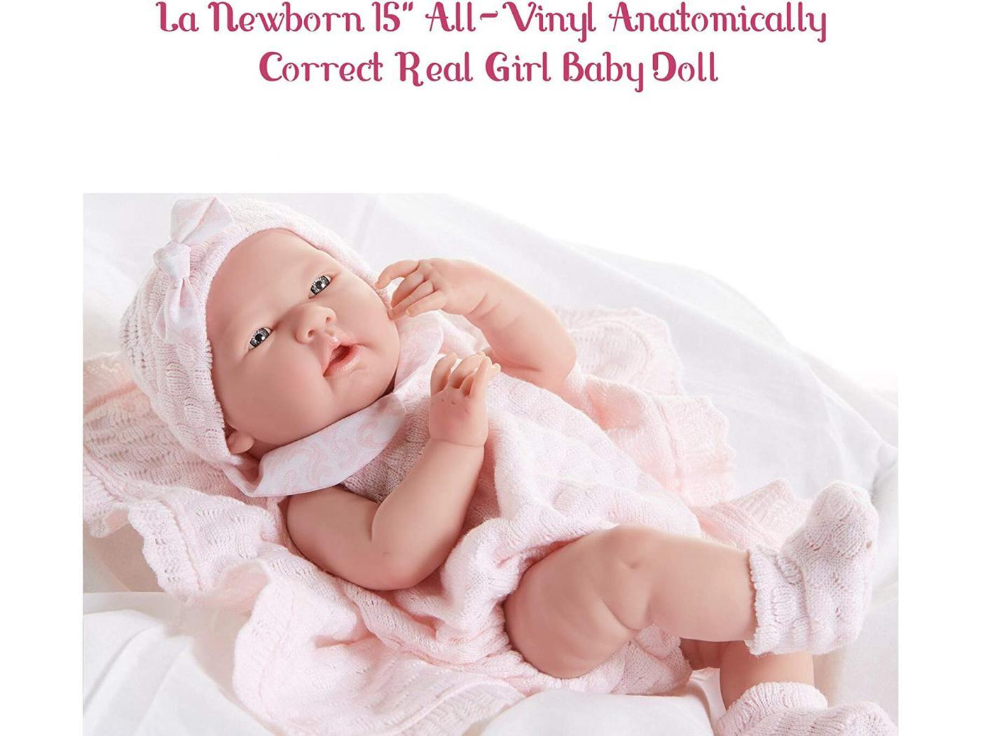 berenguer poupon newborn nouveau n sexu fille avec couverture 38 cm. Black Bedroom Furniture Sets. Home Design Ideas