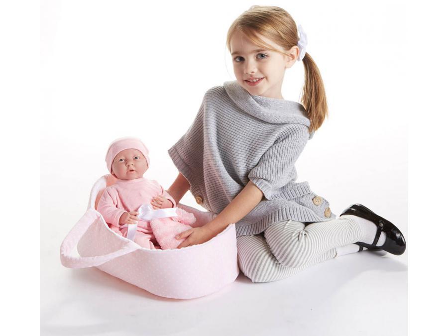 berenguer poupon newborn nouveau n avec couverture et panier 39 cm. Black Bedroom Furniture Sets. Home Design Ideas