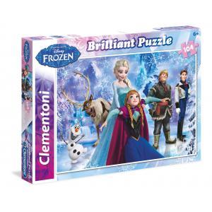 Clementoni - 20127 - Puzzles 104 Pièces Glitter/Jewels/Brillant - BRILLIANT - La Reine des Neiges (275186)