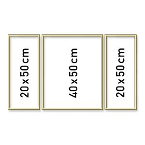 Schipper - 605140707 - Cadre en aluminium tryptique 2x (20x50 cm) + 1 x40x50 cm gold (275608)
