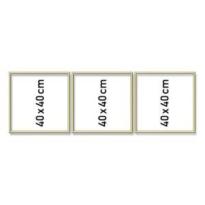Schipper - 605150706 - Cadre en aluminium tryptique 3 x (40 x 40 cm) Gold (275610)