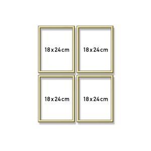 Schipper - 605170704 - Cadre quattro en aluminium 4 x (18 x 24 cm) Gold (275614)