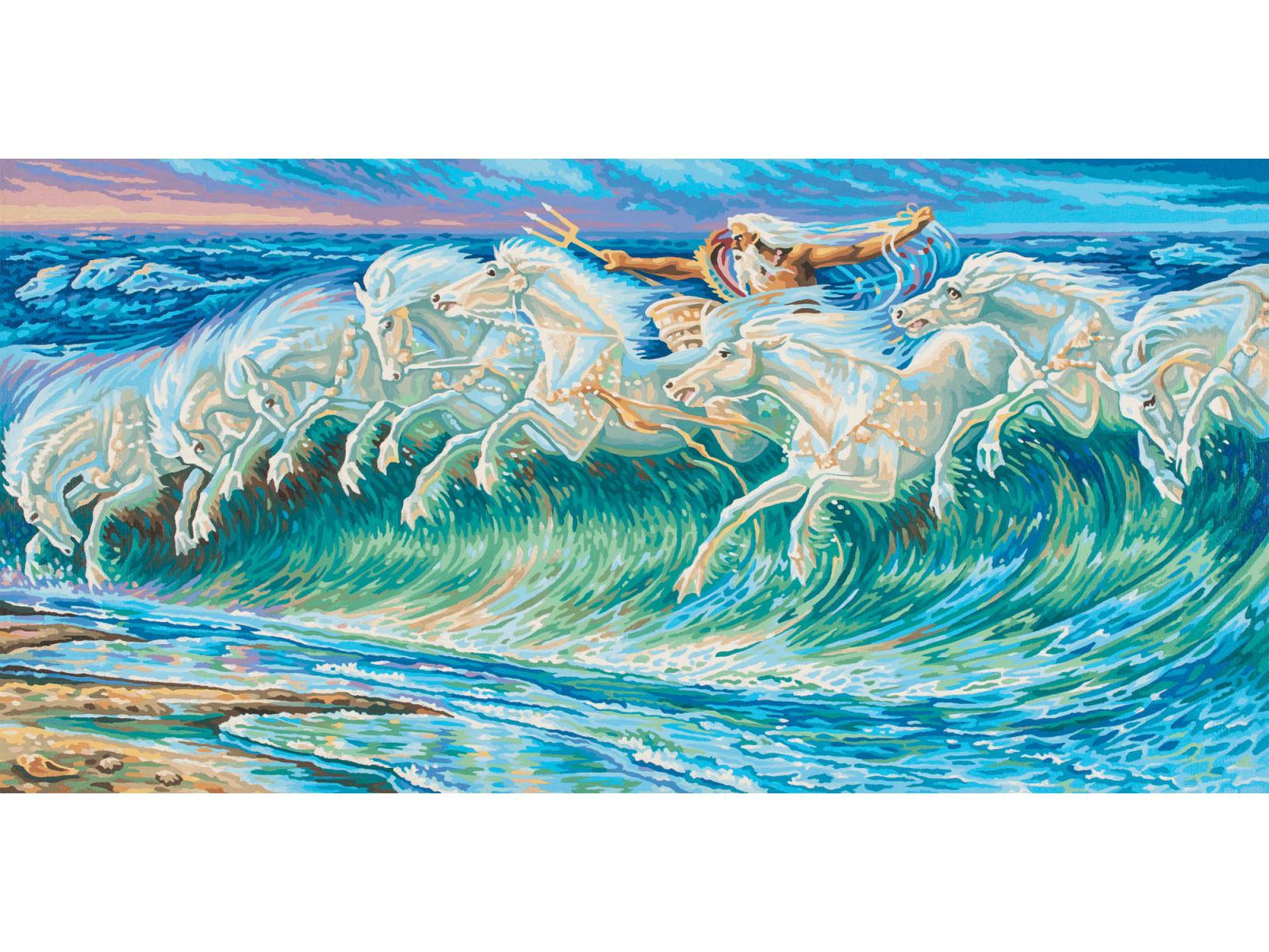 Schipper - Peinture aux numeros - Les chevaux de Neptune
