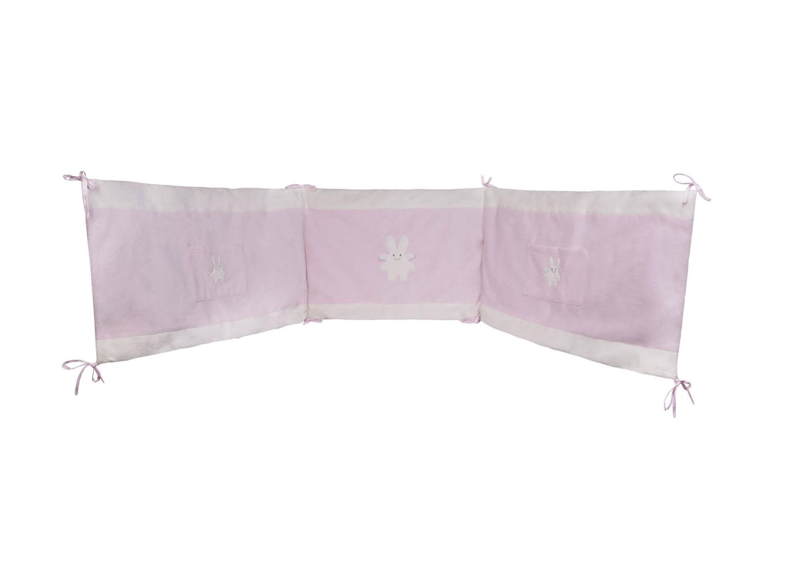 trousselier tour de lit ange lapin rose 210 x 40 cm. Black Bedroom Furniture Sets. Home Design Ideas