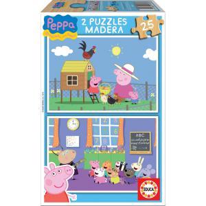 Educa - 15830 - Puzzle 2x25 bois Peppa pig (276472)