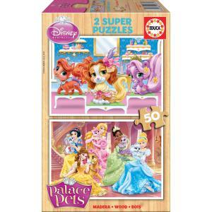 Educa - 16371 - Puzzle 2x50 Palace Pets (276478)