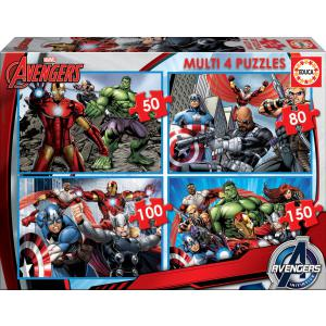 Educa - 16331 - Puzzle Multi 4 en 1 the Avengers (276502)
