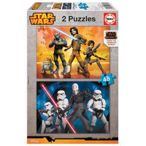 Educa - 16168 - Puzzle Star wars 2X48 pièces Carton (276510)