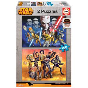 Educa - 16169 - Puzzle 2x100 Star Wars rebels (276512)