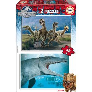 Educa - 16339 - Puzzle Jurassic World 2X48 pièces Carton (276526)