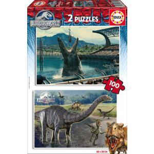 Educa - 16340 - Puzzle Jurassic World 2X100 pièces Carton (276528)