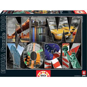 Educa - 16288 - Puzzle 1000 collage de New York (276558)
