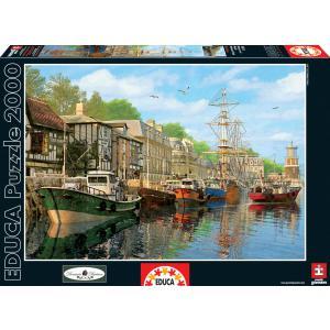 Educa - 16313 - Puzzle 2000 bâteaux à quai (276588)