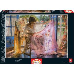 Educa - 16314 - Puzzle 2000 châle rose, Vicente Romero (276590)