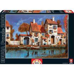 Educa - 16316 - Puzzle 2000 la cascina sul lago, Guido Borelli (276594)