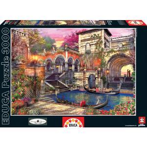 Educa - 16320 - Puzzle 3000 romance à venise (276602)