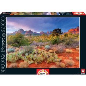 Educa - 16324 - Puzzle 4000 coucher de soleil à red rock, Arizona, Etats-unis (276606)