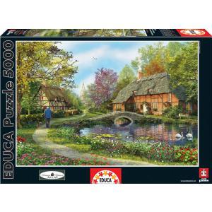 Educa - 16356 - Puzzle 5000 les chaumières fleuries (276608)