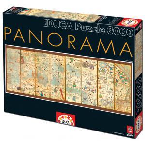 Educa - 16355 - Puzzle 3000 mapamundi de 1375, Cresques Abraham (276616)